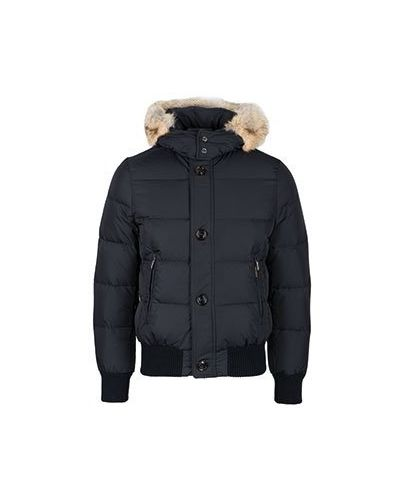Черная куртка с декоративной отделкой Moorer
