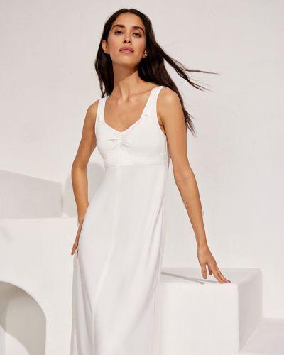 Платье миди прозрачное свободного кроя с разрезом 12storeez