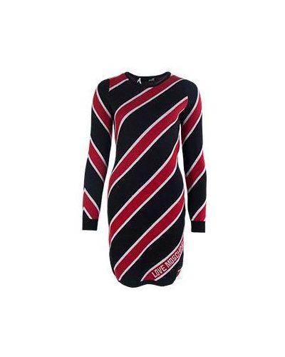 Красное зимнее платье Moschino Love
