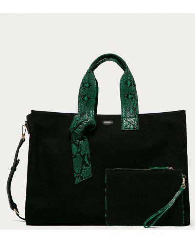 Czarna torba z krótkimi uchwytami Pinko
