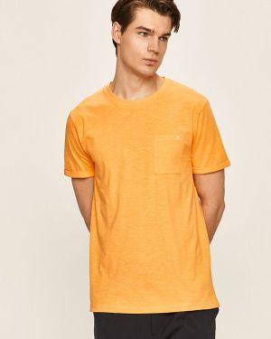 Pomarańczowy t-shirt bawełniany Clean Cut Copenhagen