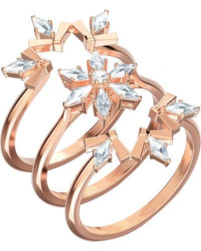 Кольцо золотое трансформер металлическое Swarovski