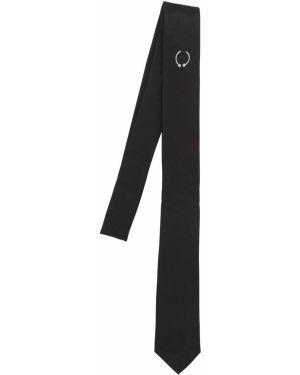 Czarny krawat z jedwabiu Neil Barrett