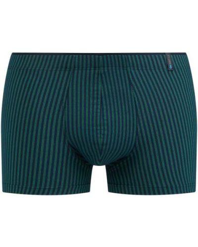 Zielone majtki w paski Schiesser