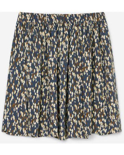 Szara spódnica mini rozkloszowana z wiskozy Marc O Polo