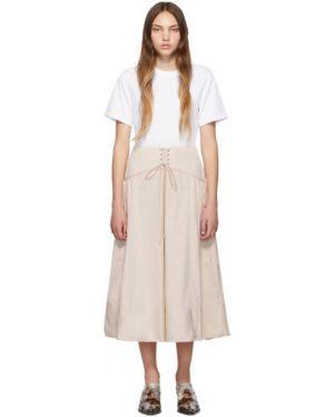 Платье макси розовое плиссированное 3.1 Phillip Lim