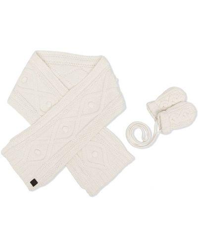 Хлопковые белые перчатки с нашивками Tartine Et Chocolat