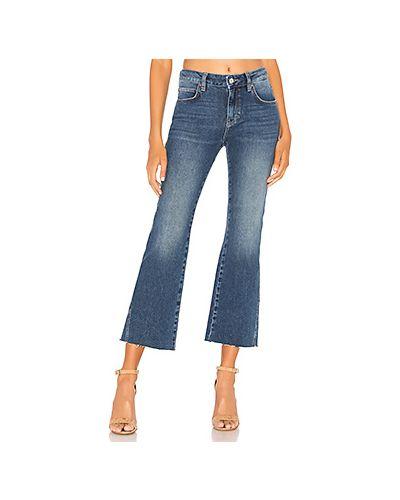 Укороченные джинсы с эффектом потертости Free People