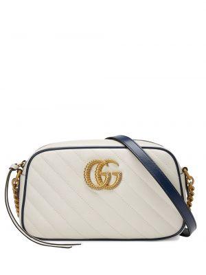 Стеганая маленькая сумка на молнии с декоративной отделкой металлическая Gucci