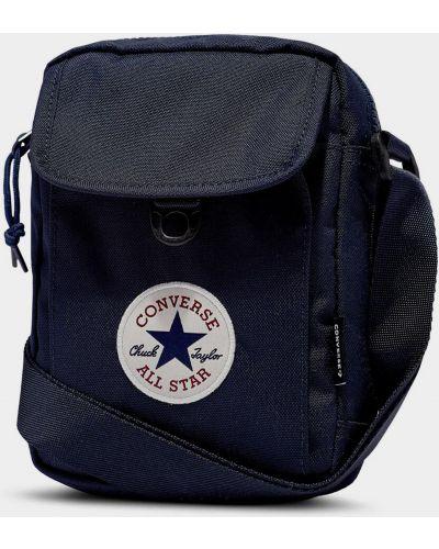 Синее боди на молнии с карманами Converse
