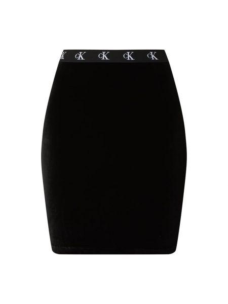 Czarny spódnica mini na gumce Calvin Klein Jeans