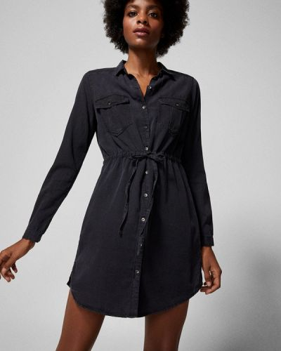 Черное джинсовое платье Springfield