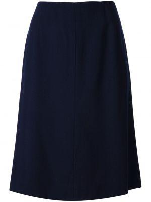 Синяя юбка карандаш винтажная с рукавом 3/4 Krizia Pre-owned