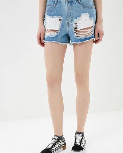 Джинсовые шорты со стразами Sh