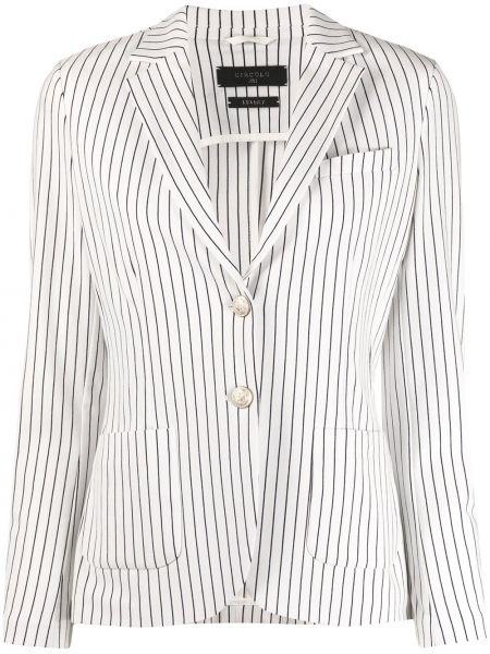 Хлопковый белый удлиненный пиджак с отворотом Circolo 1901