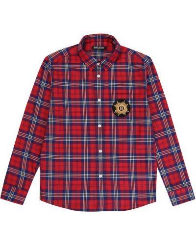 Блуза красная Balmain