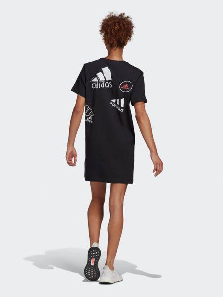 Платье макси длинное - черное Adidas