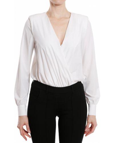 Боди блуза белое Elisabetta Franchi