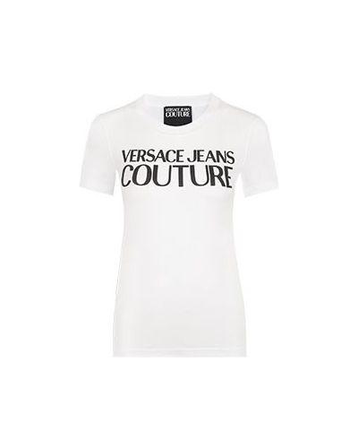 Хлопковая футболка - белая Versace Jeans Couture