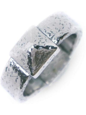 Pierścionek srebrny - szary Bottega Veneta Vintage