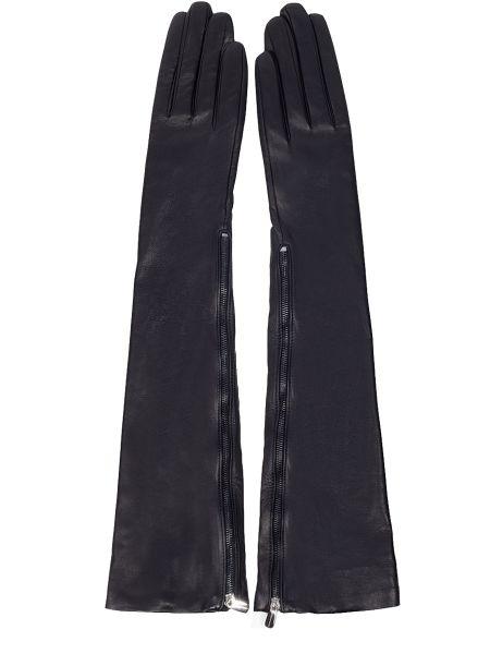Черные шелковые перчатки длинные Dolce & Gabbana