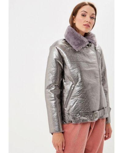 Дубленка серебряного цвета Glamorous
