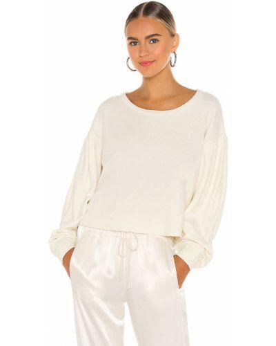 Bawełna z rękawami włókienniczy biały pulower Lanston