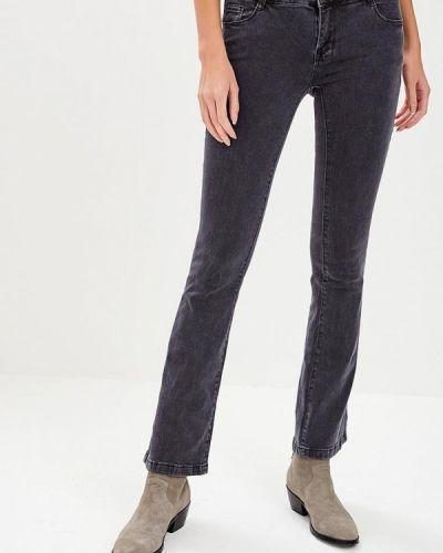 Широкие джинсы расклешенные серые Kiss Pink