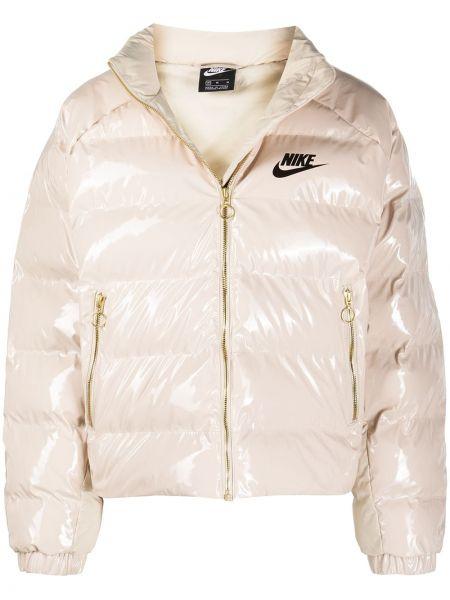 Розовая длинная куртка с карманами с манжетами Nike