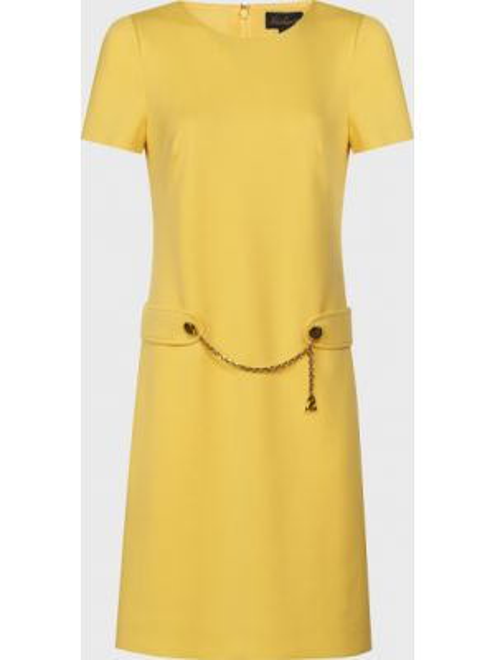Шерстяное желтое платье на молнии Luisa Spagnoli