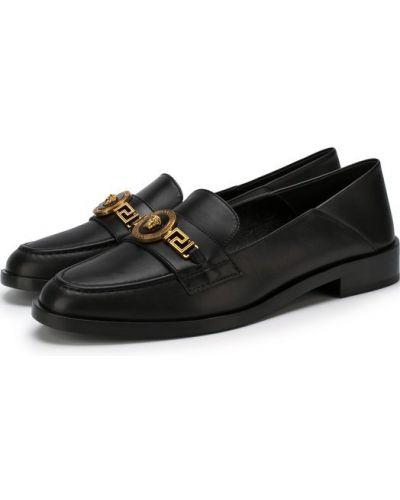 Черные лоферы Versace