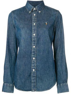 Koszula z długim rękawem dżinsowa z kołnierzem Ralph Lauren
