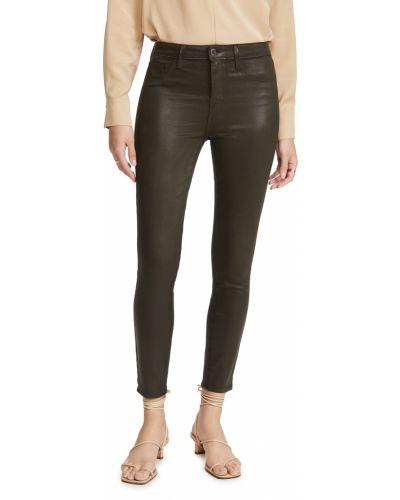Синие зауженные джинсы-скинни с карманами L'agence