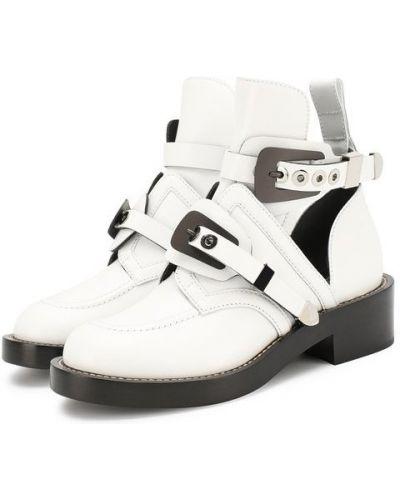 Кожаные ботинки с пряжкой на каблуке Balenciaga