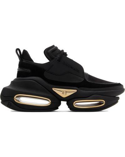 Кожаные кроссовки - черные Balmain