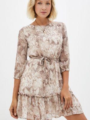 Бежевое платье летнее Teratai