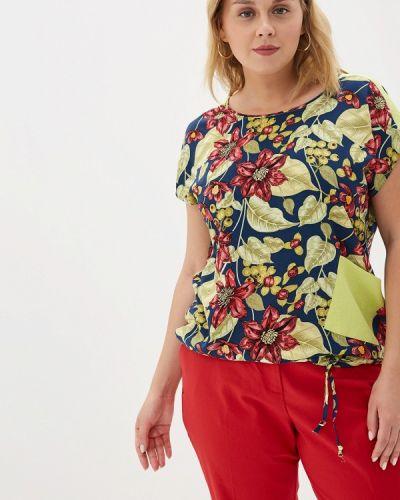 Блузка с коротким рукавом синяя весенний Kontaly