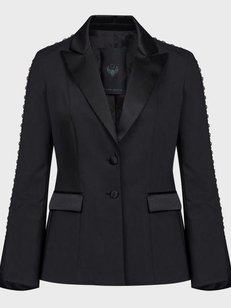 Черный пиджак на пуговицах Frankie Morello