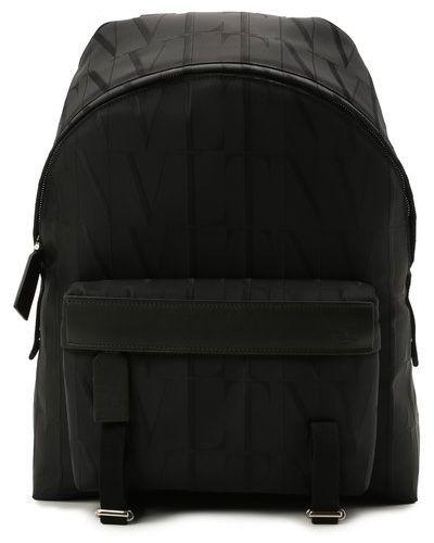 Черный итальянский рюкзак Valentino