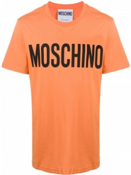 Koszula krótkie z krótkim rękawem z logo prosto Moschino