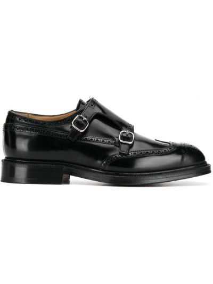 Черные кожаные монки на каблуке Church's