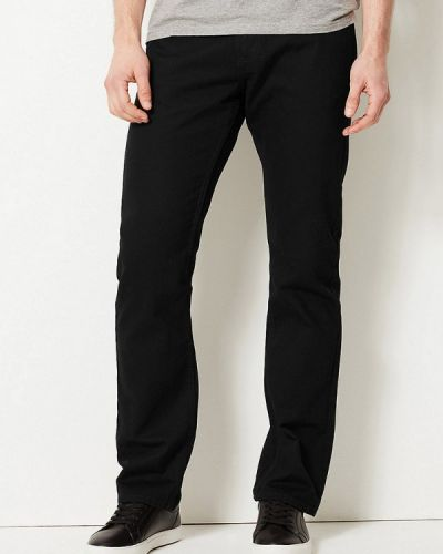 Черные прямые джинсы с жемчугом Marks & Spencer