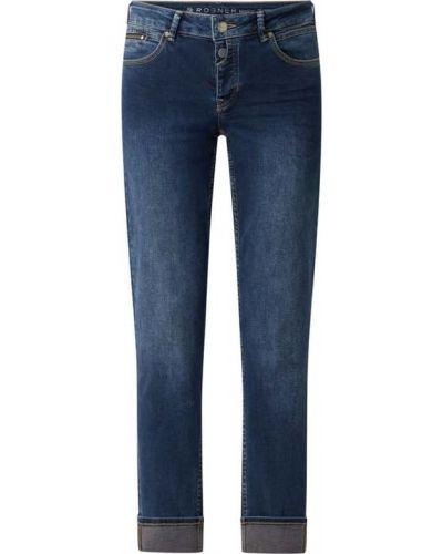 Niebieskie mom jeans bawełniane Rosner