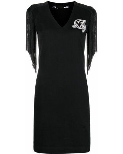 Платье мини короткое - черное Love Moschino