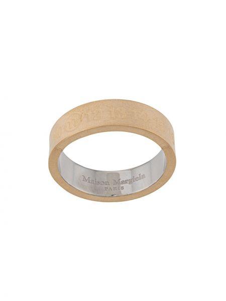 Золотистое кольцо золотое Maison Margiela