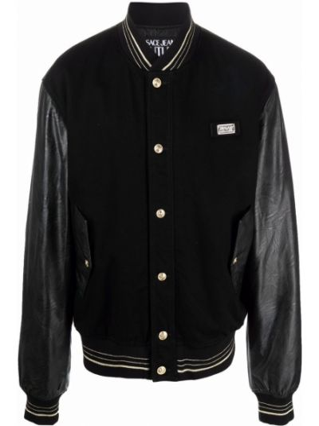 Czarna kurtka bawełniana Versace Jeans Couture