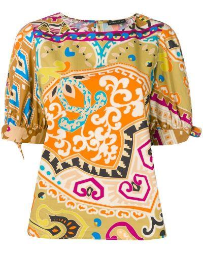 Блузка с узором пейсли с манжетами Etro