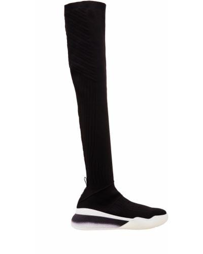 Черные кроссовки трикотажные Stella Mccartney