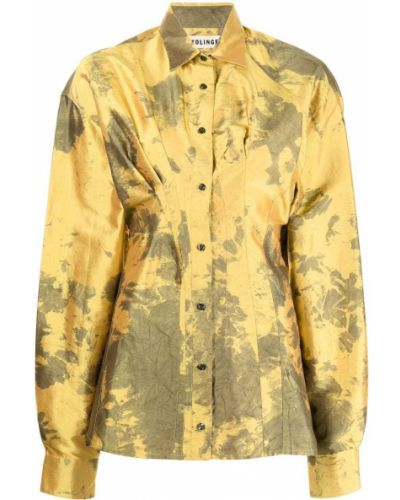 Żółta koszula z printem Ottolinger