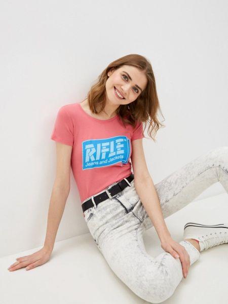Розовая футбольная футболка Rifle